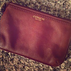 Coach Leather Wristlet/Coin Purse